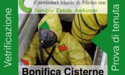 Bonifica Cisterne Serbatoi di gasolio Vetrificazione e prova di tenuta